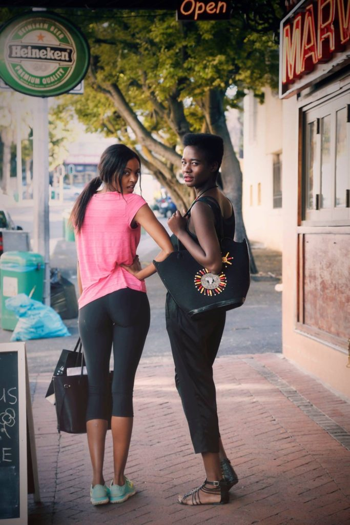 Two Women on Long Street in Cape Town Fashion Lifestyle Photography